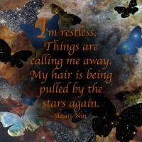Quote of the Day - I'm restless...
