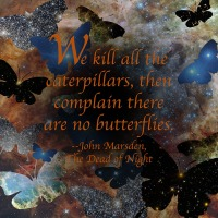 Quote of the Day - We kill all the caterpillars...
