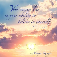 Quote of the Day - Your success lies in...
