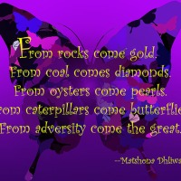 Quote of the Day - From rocks come gold...